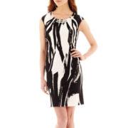 Studio 1® Sleeveless Painter Print Shift Dress