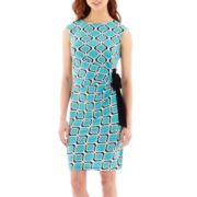 R&K Originals® Extended Cap-Sleeve Side-Tie Dress