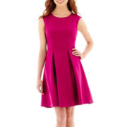 Danny & Nicole® Sleeveless Scuba Fit-and-Flare Dress