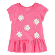 Okie Dokie® Short-Sleeve Peplum Top - Girls newborn-9m
