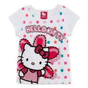Hello Kitty® Graphic Glitter Tee - Toddler Girls 2t-4t