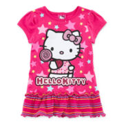 Hello Kitty® Graphic Glitter Tunic - Toddler Girls 2t-4t