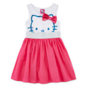 Hello Kitty® Glitter Bow Dress - Preschool Girls 4-6x