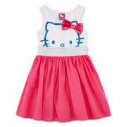 Hello Kitty® Glitter Bow Dress - Preschool Girls 4-6x