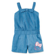 Hello Kitty® Chambray Romper - Preschool Girls 4-6x
