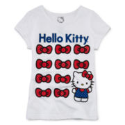 Hello Kitty® Glitter Graphic Tee - Preschool Girls 4-6x