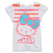Hello Kitty® Bow-Back Glitter Tee - Preschool Girls 4-6x