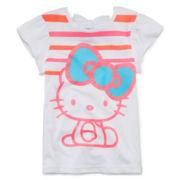 Hello Kitty® Bow-Back Glitter Tee - Preschool Girls 4-6x