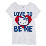 Hello Kitty® Graphic Glitter Tee - Preschool Girls 4-6x