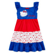 Hello Kitty® American Tiered Dress - Preschool Girls 4-6x