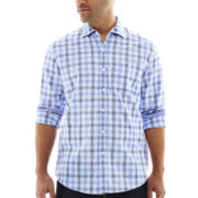 Michael Brandon Long-Sleeve Large Plaid Shirt