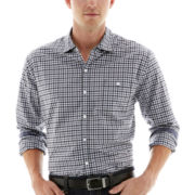 Michael Brandon Long-Sleeve Tattersall Plaid Shirt