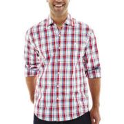 Michael Brandon Long-Sleeve Red Plaid Shirt