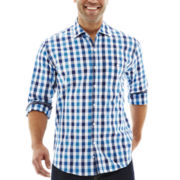 Michael Brandon Long-Sleeve Large Grid Shirt