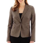 Liz Claiborne® Birdseye Jacket - Tall