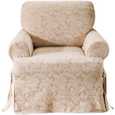 jcpenney.com | SURE FIT® Scroll 1-pc. T-Cushion Chair Slipcover