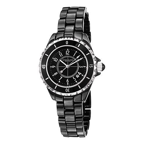 Stuhrling Womens Black Bracelet Watch-Sp12496