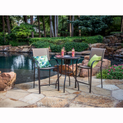 Outdoor Oasis Melbourne 3 Pc Bar Height Patio Dining Set With Ice