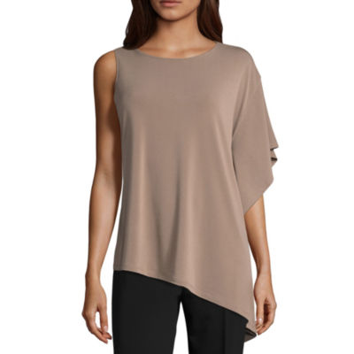 Worthington Short Sleeve Crew Neck Knit Blouse by Worthington