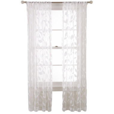 jcpenney.com | MarthaWindow™ Garden View Rod-Pocket Sheer Panel
