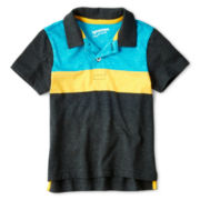 Arizona Short-Sleeve Striped Colorblock Polo - Boys 2t-6t