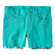 Flowers by Zoe by Kourageous Kids Studded Twill Shorts - Girls 6-16