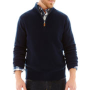 St. John's Bay® Chunky Quarter-Zip Cotton Sweater