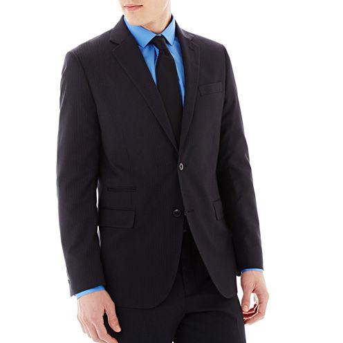 JF J. Ferrar® Black Striped Suit Jacket -  Slim-Fit