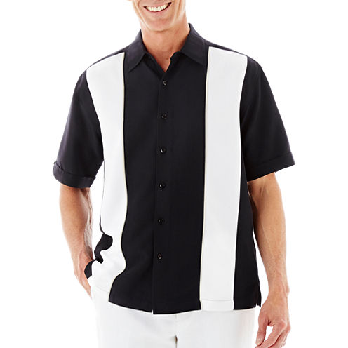 The Havanera Co.® Short-Sleeve Panel Insert Shirt