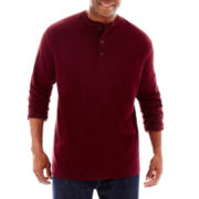 The Foundry Supply Co.™ Long-Sleeve Sueded Henley-Big & Tall