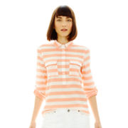 Joe Fresh™ Striped Popover Blouse