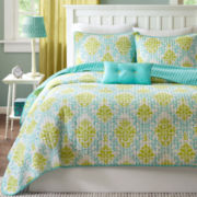 Mizone Paige Damask Coverlet Set