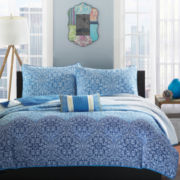 Mi Zone Calypso Medallion Coverlet Set