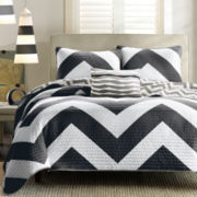 Mizone Pisces Reversible Chevron Coverlet Set