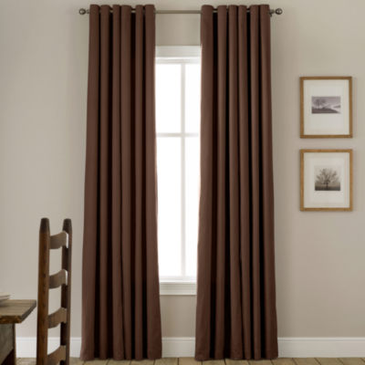JCPenney Home™ Jenner Cotton Grommet Top Thermal Curtain Panel