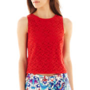nicole by Nicole Miller® Sleeveless Lace Crop Top