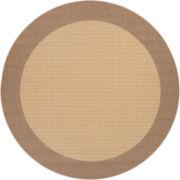 Couristan® Checkered Field Indoor/Outdoor Round Rugs