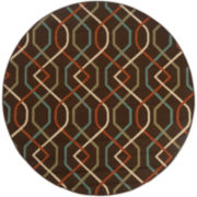 Montego Swizzle Indoor/Outdoor Round Rug