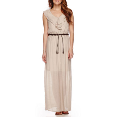 jcpenney.com | Alyx® Sleeveless Ruffle-Neck Belted Maxi Dress