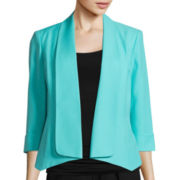Evan-Picone Long-Sleeve Crepe Makali Jacket