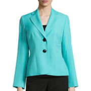 Evan-Picone Long-Sleeve Crepe Jacket