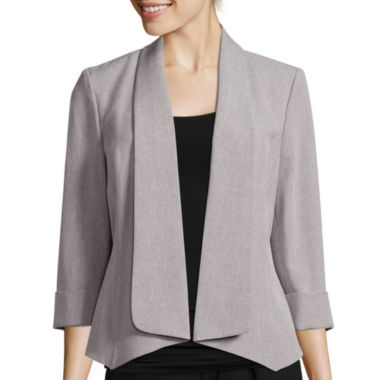 jcpenney.com | Black Label by Evan-Picone Long-Sleeve Open Front Jacket