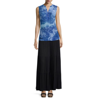jcpenney.com | St. John's Bay® Sleeveless Tie Dye Popover Top or Knit Maxi Skirt - Tall