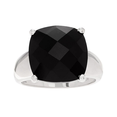 Genuine Onyx Sterling Silver Ring