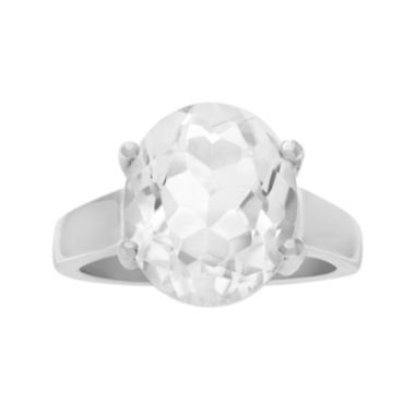 jcpenney.com | Genuine Crystal Quartz Sterling Silver Ring