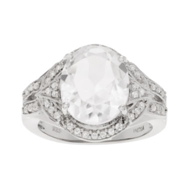 jcpenney.com | Genuine Crystal Quartz and White Topaz Sterling Silver Ring