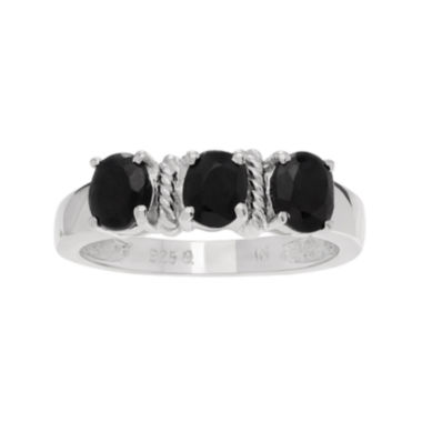 jcpenney.com | Color-Enhanced Black Sapphire Sterling Silver Ring