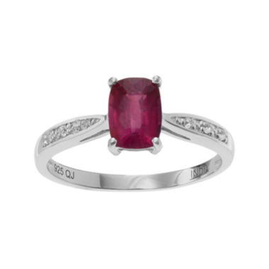 jcpenney.com | Lead Glass-Filled Ruby & Genuine White Topaz Sterling Silver Ring