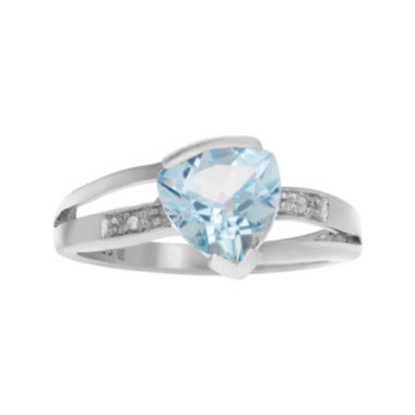 jcpenney.com | 1/10 CT. T.W. Diamond & Genuine Blue Topaz Sterling Silver Ring