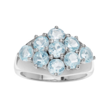 jcpenney.com | Genuine Blue Topaz Sterling Silver Cluster Ring